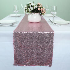 12 x 108 Inch Pink Glitter Table Runner Banquet Glitzy Table Decoration luxury