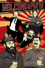 WELCOME TO THE PARTY POLITICAL COMMUNIST HUMOUR POSTER (61x91cm)  PICTURE PRINT
