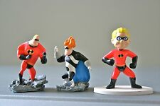 SET OF 3 INCREDIBLES SMALL CHARACTER FIGURES- DASH, MR INCREDIBLE & SYNDROME