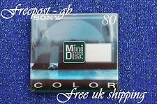 SONY BLANK MINIDISC - 80 MINUTES SHOCK ABSORBING SYSTEM - COLOUR RANGE - NEW