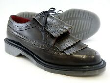 Dr. Martens Women`s Elizabeth MIE Tassel Leather Brogue Grey US 11 EU 43 UK 9