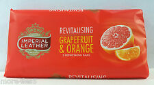 3 x 100gm Imperial Leather Revitalising Grapefruit & Orange Soap Bar Brand New