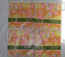 Set of 4 Vintage Norcross Wedding Shower Wrapping Paper NIP