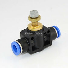 Push in to connect inline Air Fitting Flow Speed Control OD 10MM