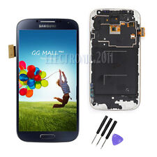 LCD Display Touch Screen Digitizer For Samsung Galaxy S4 I9505 Blue + Frame