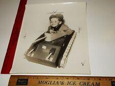 Rare Historical Original VTG 1943 Young Boy Playing w Toy Tank Pedal Car Photo