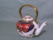 Royal Crown Derby Miniature Ornamental Kettle Teapot Imari Pattern 383