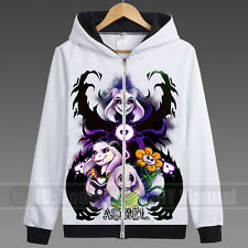Japan HOT Game Undertale Coat Unisex Skeleton Zipper Hoodies Anime Cosplay #D309