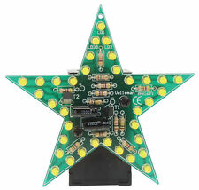 VELLEMAN MK169Y FLASHING YELLOW LED STAR DIY KIT-soldering required (Ages 13+)