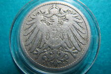 GERMANY, Antique 1899  Deutsches  Reich  10  PFENNIG Coin, Fine Circulated