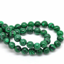 20Pcs Malachite Green Gemstone Stone Spacer Beads Jewelry DIY Making Gifts 8MM
