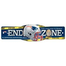 "Wincraft New England Patriots NFL End Zone Man Cave Street Sign 4.5"" x 17"" NEW"