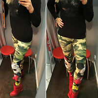 Sexy Mickey Camo Women Slim Skinny Stretchy Pencil Pants Leggings Tight Trousers