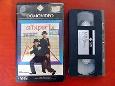 VHS.11) A TU PER TU - DOMOVIDEO (PAOLO VILLAGGIO, JOHNNY DORELLI)