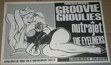 Groovie Ghoulies + The Eyeliners RARE 1999 LIVE CONCERT GIG POSTER Great Artwork