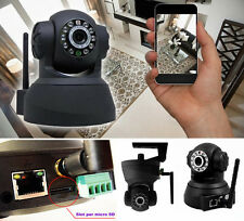 IP Camera telecamera WIFI x iPhone,iPad,Galaxy,Android.Videocamera slot micro SD