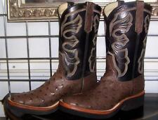 Rios of Mercedes Brown Full Quill Ostrich Crepe Sole Cowboy Boots Ladies 7.5 C