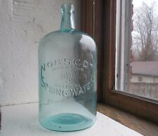 NOBSCOT MOUNTAIN NATURAL SPRING WATER 1/2 GALLON BLOB TOP 1890s BOTTLE