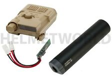 AIRSOFT XCORTECH X3300W TRACER UNIT TORCH BB'S CHRONOGRAPH MOSFET ALL IN 1 TAN