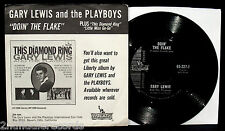 GARY LEWIS & THE PLAYBOYS-Doin' The Flake-Rare Corn Flakes Promo Picture Sleeve