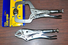 10WR Curve Jaws and 11SP C Clamp Locking Vise Grip Plier Made in USA