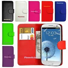Flip Leather Wallet Case Cover & Film For Various Samsung Galaxy Mobile Phones