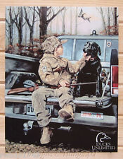 Forever Friends TIN SIGN ducks unlimited hunt dog metal poster wall decor 1142