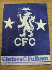 27/12/1976 Chelsea v Fulham  (Creased, Folded, Worn, Nicks/Rips)