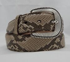 New Justin SNAKE Leather Belt   Size 36 NWT C11482