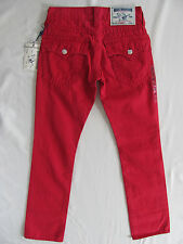 True Religion Straight Leg Jeans Flap Pockets - Ruby Red -Size 28 NWT $211