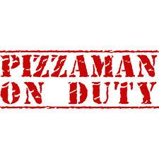 Pizzaman sul dovere! Consegna Pizza Funny Finestrini Auto Paraurti Decalcomania In Vinile Adesivo ROSSO