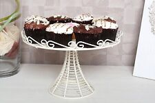 Cream Wire Cake Cupcake Stand Vintage Wedding Party 1 Tier Storage Display Plate