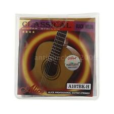 Alice A107BK-H Guitar Six Strings Black Nylon Set for Acoustic Guitar ~ F0A0