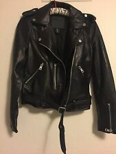 "Leather Jacket Belle Vere  Moto  ""L"" new with  tags!!!"