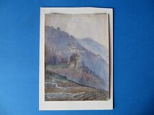 Very Fine Antique Watercolour Painting. Aosta Valley, Italy