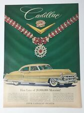 Original Print Ad 1953 CADILLAC Auto Car Jewels Van Cleef Arpels