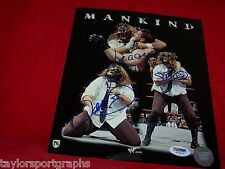 MICK FOLEY SIGNED WWE,TNA WRESTLING RARE MANKIND PHOTO PSA CERTIFIED TICKET