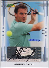 2013 ACE AUTHENTIC TENNIS AUTO: ANDREI PAVEL #3/5 AUTOGRAPH TOP 20 ROMANIAN