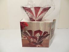 "JAPAN FIFTH AVENUE CRYSTAL AURORA 8"" LEAD FREE BOWL WITH RUBY ACCENTS"