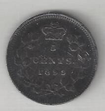 CANADA,  1899,  5 CENTS,  SILVER,  KM#2, VERY FINE+