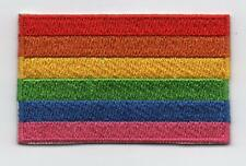 LGBT Embroidered RAINBOW PRIDE Flag Iron on Sew on Patch  HIGH QUALITY APPLIQUE