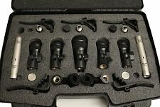KAM D7 Seven Drum Microphones Set with Mounts and Crying Case. Authorized Dealer