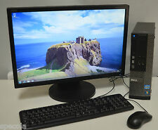 "Dell OptiPlex 390 SFF + Monitor 22"" Intel i3 8GB DDR3 1TB Win 7 READY TO USE"