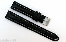 BREITLING  genuine black leather watch strap 15-14   121X  15mm.