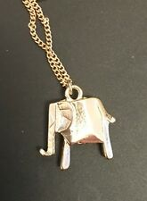 Funky Gold Origami Elephant Animal Zoo Necklace Kitsch Quirky Blogger Favourite