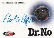 JAMES BOND 2014 ARCHIVES A245 CHARLES EDGHILL AS ASSASSIN IN DR. NO AUTOGRAPH