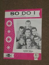 Kenny Ball And His Jazzmen So Do I (Bel-Ami) Sheet Music.1962.