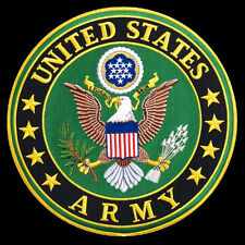 US Army EMROIDERED 10 inch (XXL) IRON ON MILITARY PATCH