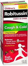 Robitussin Children's Cough - Cold Long-Acting Liquid Fruit Punch 4 oz (4 pack)