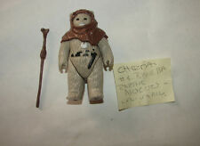 Star Wars Vintage ROTJ Kenner Chief Chirpa Ewok w orig Acc BLANK bar fig.  214